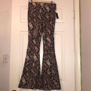 NWT Snakeskin Flare Pants